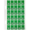 Avery Alphabet Coding Label R Side Tab 20x30mm L Green Pack of 150