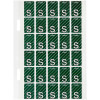 Avery Alphabet Coding Label S Side Tab 20x30mm D Green Pack of 150
