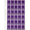 Avery Alphabet Coding Label U Side Tab 20x30mm Purple Pack of 150