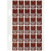 Avery Alphabet Coding Label W Side Tab 20x30mm Brown Pack of 150