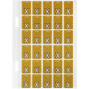 Avery Alphabet Coding Label X Top Tab 20x30mm Mustard Pack of 150