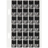 Avery Alphabet Coding Label Mc Top Tab 20x30mm Wht Blk Pack of 150