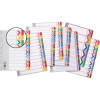 MARBIG DIVIDERS INDEX BOARD A4 FINANCIAL YEAR COLOURED TABS