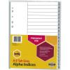 MARBIG POLYPROPYLENE INDICES - ALPHABETICAL A-Z A4 Grey
