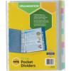 A4 POCKET 10 TAB DIVIDERS SET 35081