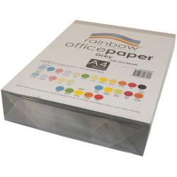RAINBOW COLOUR COPY PAPER A4 80GSM Grey Ream of 500