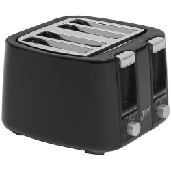 Nero 4 Slice Toaster Black