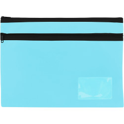 Celco Pencil Case 2 Zips Large 350x260mm Marine Blue