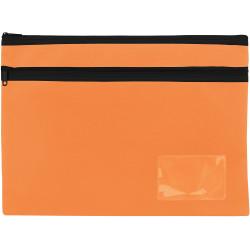 Celco Pencil Case 2 Zips Large 350x260mm Orange