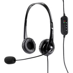 Kensington Stereo USB Headphones with Microphone and Volume