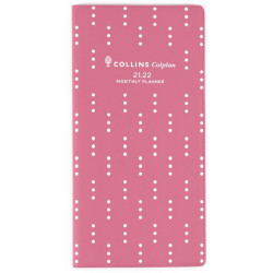 Collins Colplan Planner B6/7 Month To View 176x88mm 2 Years Pink