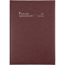 Collins Appointment Diary Day To Page A4 2022 Early Edition Burgundy