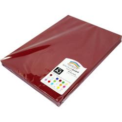 Rainbow Spectrum Board A3 220gsm Dark Red 100 Sheets