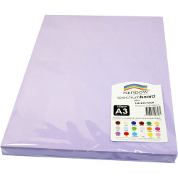 Rainbow Spectrum Board A3 220gsm Lilac 100 Sheets