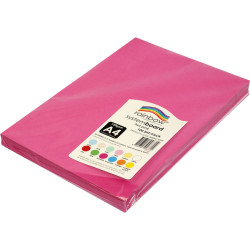 Rainbow System Board A4 150gsm Hot Pink 100 Sheets