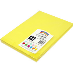 Rainbow System Board A4 150gsm Sunshine Yellow 100 Sheets