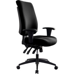 Buro Tidal Office Chair High Back With Arms Seat Slide Black Fabric Seat and Bac