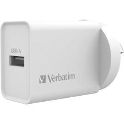 Verbatim Single USB Port Charger 2.4A White