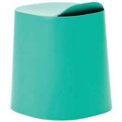Buro Peekaboo Student Stool Stackable Lightweight Strong Poly Shell Stone Green