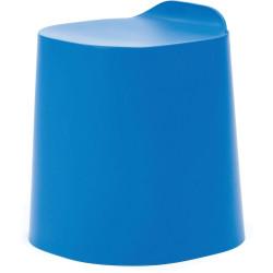 Buro Peekaboo Student Stool Stackable Lightweight Strong Poly Shell Dodger Blue