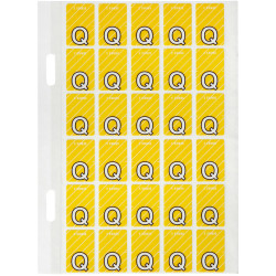 Avery Alphabet Coding Label Q Side Tab 20x30mm Yellow Pack of 150
