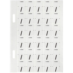 Avery Alphabet Coding Label Top Tab 20x30mm Wht Blk Pack of 150
