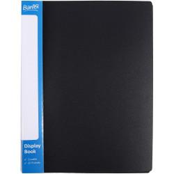 Bantex Insert Spine Display Book A4 20 Fixed Pockets Black