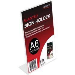 Deflect-O Sign Menu Holder Slanted A6 Portrait