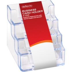 Deflect-O Business Card Holder 4 Tiers Landscape