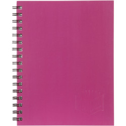 Spirax 511 Hard Cover Notebook A5 200 Page Pink