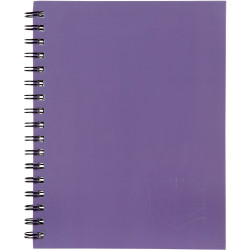 Spirax 511 Hard Cover Notebook A5 200 Page Purple