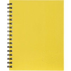 Spirax 511 Hard Cover Notebook A5 200 Page Yellow