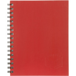 Spirax 512 Hard Cover Notebook A4 200 Page Red