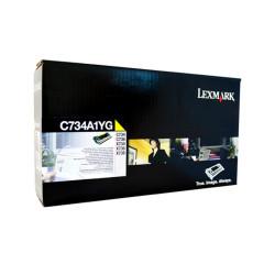 LEXMARK TONER CARTRIDGE C734A1Y Yellow