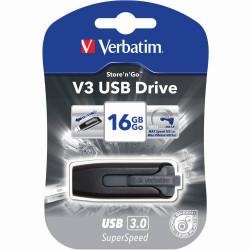 VERBATIM STORE N GO Version 3 V3 Flash / USB Drive 16gb Grey