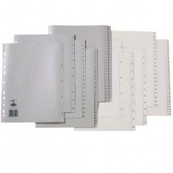 MARBIG POLYPROPYLENE INDICES - NUMERICAL 1-12 A4 White