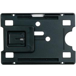 REXEL CARD HOLDERS W/ADJ CLIP BLK PK10