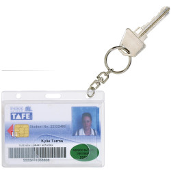 CLEAR FUEL CRD HOLDER WITH KEY RING PK10