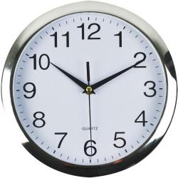 ITALPLAST WALL CLOCK 26cm Frame/White Face