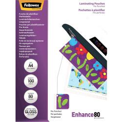 Fellowes Laminating Pouches Gloss A4 80 Micron PK.100