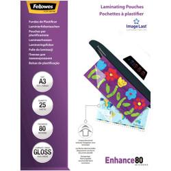 Fellowes Laminating Pouches A3 80 Micron PK.25