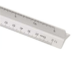 STD LINEX TRIANGULAR SCALE RULERS 300MM 2AS 325  1:20 25 331/3 50 75