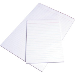 OFFICE PADS BANK WPR011 LINED A4 297x210mm Ruled White 100 Leaf (141304)