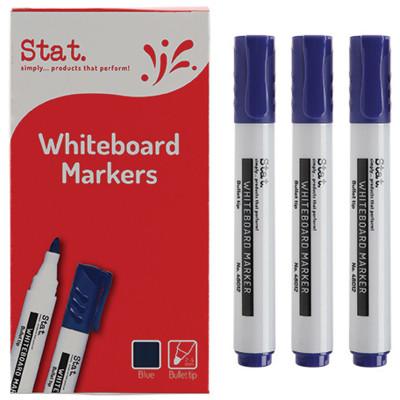 STAT WHITEBOARD MARKER BULLET 1.3mm Blue